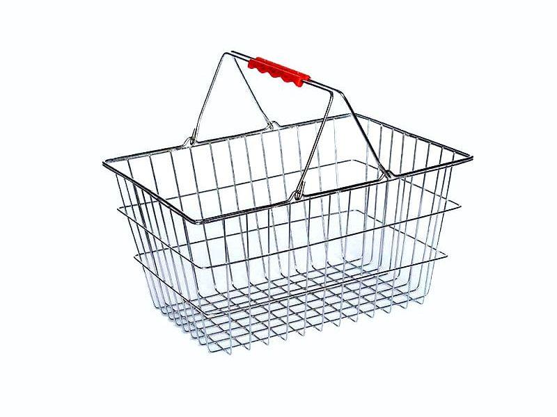 از سبد دستی فلزی به منظور حمل اجناس استفاده می شود. جهت سفارش و خرید انواع سبد دستی فلزی به تجهیزات فروشگاهی پرشین صنعت آسیا مراجعه فرمایید.