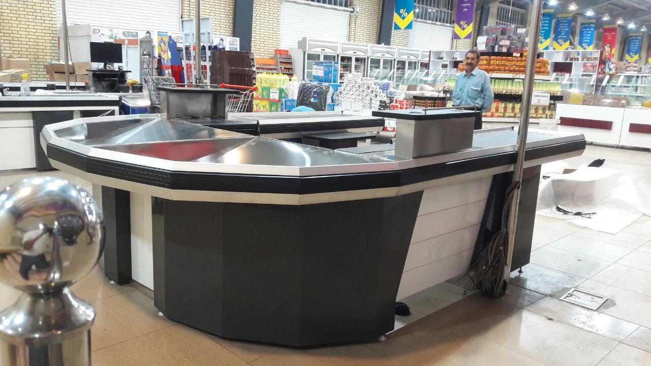 خرید و قیمت میز چک اوت فروشگاهی | تجهیزات فروشگاهی در گروه پرشین صنعت آسیا در کرج