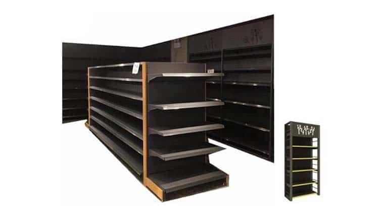 قفسه چهار ستون انبار- خرید قفسه انباری